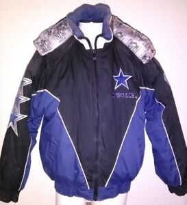 new style 99679 a722c Details about Vintage LRG Dallas Cowboys Pro Player 75 Years Championship  Puffer Jacket Hoodie