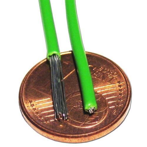 0,34 €//m 10m toron Gris Câble einadrig flexible 0,5mm²