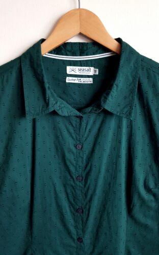 Shirt Blouse Ladies Seasalt Cotton Carrickowel Green 16 Size 7p7qIX