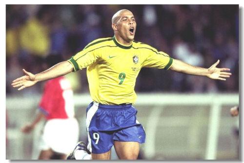 Poster Ronaldo Luiz R9 Football Soccer Star Room Art Wall Cloth Print 506