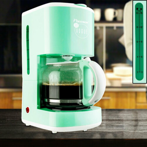 Design Kaffee Maschine Warmhalte Platte 15 Tassen Glas Kanne Filter Brüh Automat