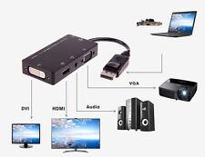 4in1 Mini DisplayPort to VGA/HDMI/DVI/Audio MIKRO USB Adapter f.MacBook Luft