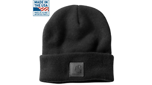 CARHARTT-Authentic-BLACK-LABEL-Watch-Hat-Knit-Beanie-Cap-LIMITED-STOCK-A18