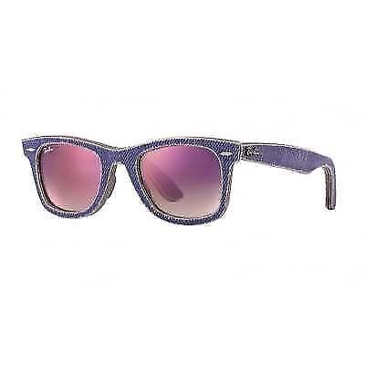 af5ec7108b12 ... italy authentic ladies ray ban wayfarer violet jeans sunglasses rb2140  1167s5 ebay d0eb8 60fdb