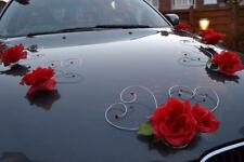 wedding car decoration, ribbon , bows, prom limusine decoration,venue,red hearts