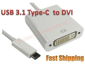 USB-C-Reversible-USB-3-1-Type-C-Male-to-DVI-Female-Converter-Adapter-Cable-HDTV