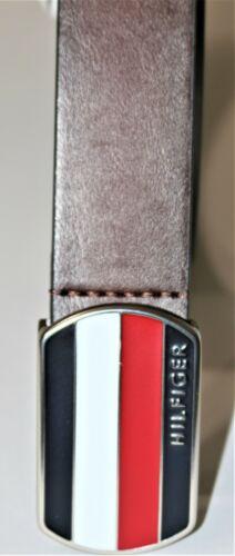 49.50 Tommy Hilfiger Men/'s  Belt with Plaque Logo Buckle MSRP