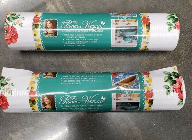 """Pioneer Woman Vintage Heritage Floral Non-adhesive Shelf Drawer Liner 20/"""" x 6 ft"""
