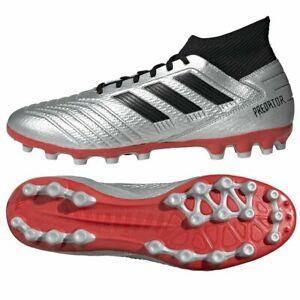 adidas Predator 19.3 Artificial Grass Sizes 6, 9.5 Silver RRP £75 Brand New