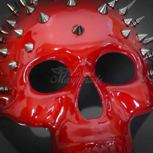 Masquerade Mask New Steampunk Red Metal Spikes Skull Halloween Costume Party