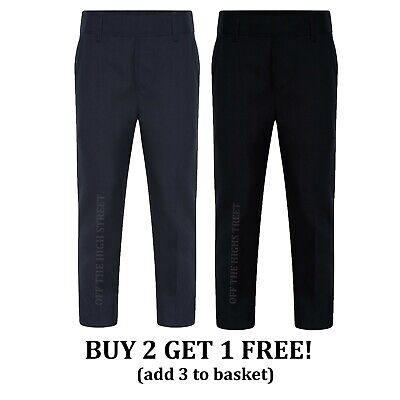 Grey /& Black School Uniform Boys School Trousers Navy