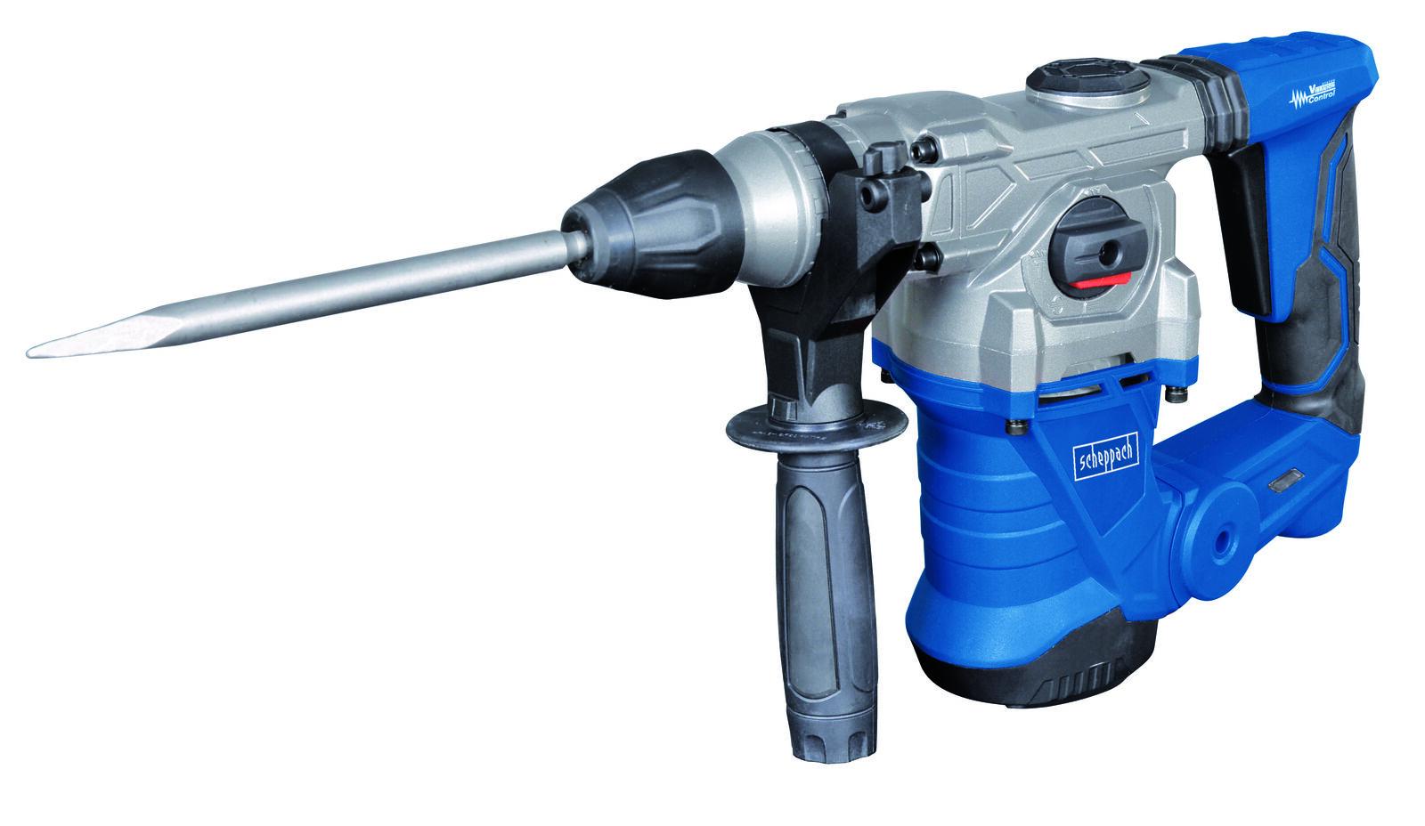 Scheppach Bohrhammer DH 1300 Plus - 230 V, 1250 W, Einzelschlagenergie max: 5 J