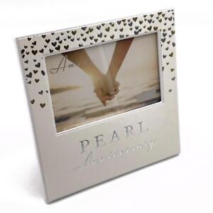 Image Is Loading 30th Pearl Wedding Anniversary Gift Photo Frame Wg92930
