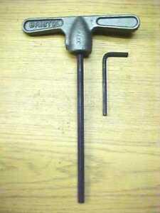 0.145 6 flute long arm Bristol Spline Key vintage /'L/' shape