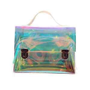 2017 New Women's Hologram Transparent Retro Messenger Bag Shoulder Bag