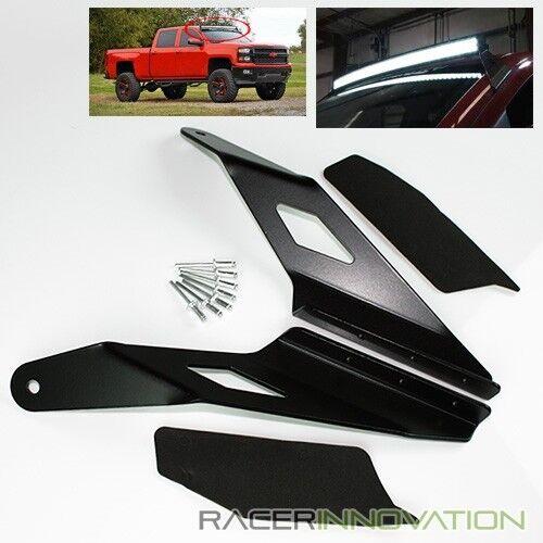 "For 14-16 Silverado//Sierra 54/"" Curved LED Light Bar Upper Roof Mounting Brackets"