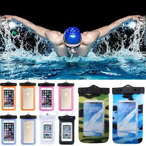 Resplandor-luminoso-Impermeable-Submarina-Bolsa-Seco-Bolsa-Funda-Cubierta-Para-Samsung-iPhone
