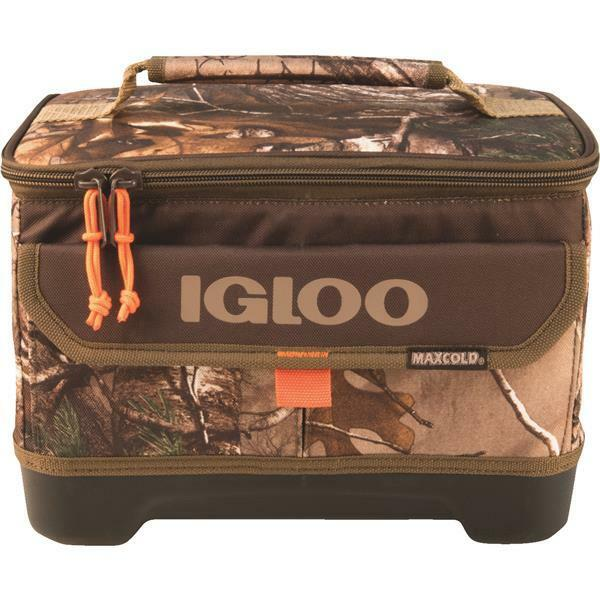 4 Pk Igloo RealTree MaxCold 9-Can Lunch-2-Go Camouflage Soft-Side Cooler
