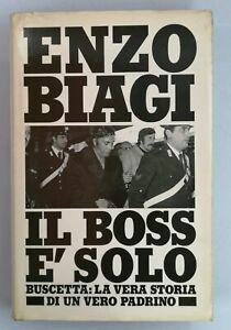 Libro-Il-boss-e-solo-Enzo-Biagi-1986-Mondadori-Buscetta-Padrino-Mafia-Libri-12
