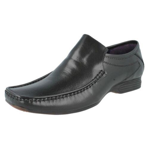 Hommes Psl Chaussures Cuir Noir à Enfiler Tailles UK 6-11 Hope B