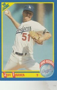 FREE-SHIPPING-MINT-1990-Score-654-Jeff-Fischer-Los-Angeles-Dodgers-ROOKIE