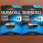 2 x Duracell Ultra CR123 CR123A 123 3V Lithium Photo Camera Battery Expiry 2026