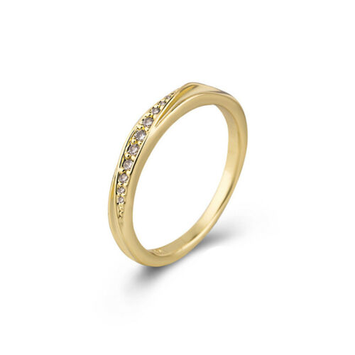 Wedding Ring For Female In Love Simple Cubic Zirconia Rose Gold Jewelry Gift CB