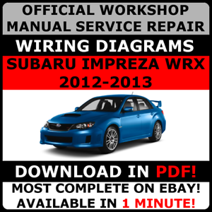 2013 subaru brz service repair manual download