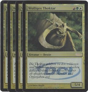 TCG-85-MtG-Magic-the-Gathering-Wolliges-Thoktar-Gateway-Promo-Foil-Playset-4