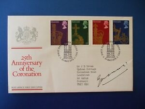 1978 CORONATION ANNIVERSARY FIRST DAY COVER SIGNED BY LORD GLENCONNER