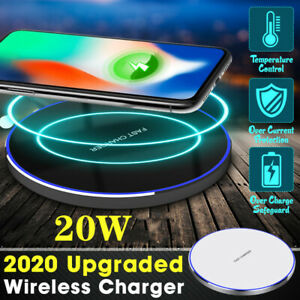 20W-Qi-Wireless-Fast-Charger-Charging-Pad-Metal-For-iPhone-XS-Max-XR-X-8-8-Plus