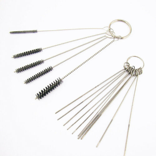 15Pcs NEW Cleaning Needle And Brush Carburetor Carbon Dirt Spray Extraction Kit