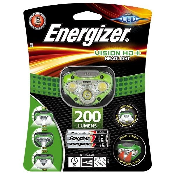 Energizer vision hd + + + Phare LED mains libres headtorch 200 lumens projecteur 77c516