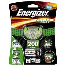 Energizer Vision HD+ LED Headlight Hands Free Headtorch 200 Lumens Headlamp