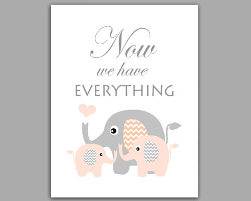 First We Had Each Other Moon /& Stars Set Of 3 Peach /& Grey Nursery Prints