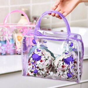 Zip-Pouch-Transparent-Clear-Travel-Cosmetic-Wash-Bag-Waterproof-PVC-Makeup-Bags