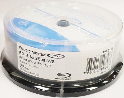 50x  Falcon Pro BD-R 6x Blu-Ray Smart White Inkjet