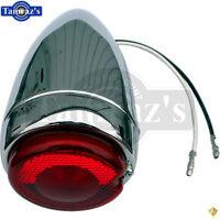 47-54 Chevy Pick Up Truck Bullet Brake Tail Light Lamp Lens Chrome Housing Each