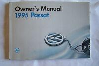 1995 Vw Passat Owners Manual Original