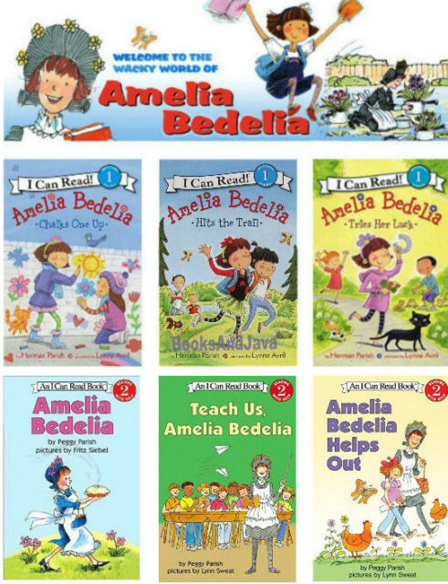 I Can Read Level 1 & 2 Amelia Bedelia Teach US by Peggy Parish (6 ...