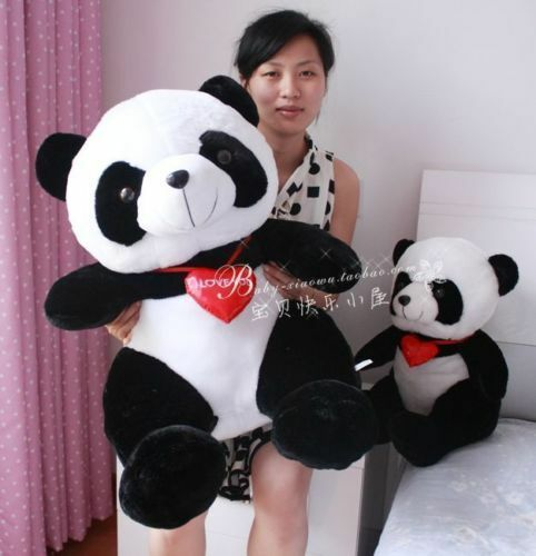 75cm huge big lovely heart panda plush toys heart panda  teddy bear doll gift