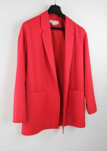*Vintage Pure Silk Red Women's Oversized Blazer, S