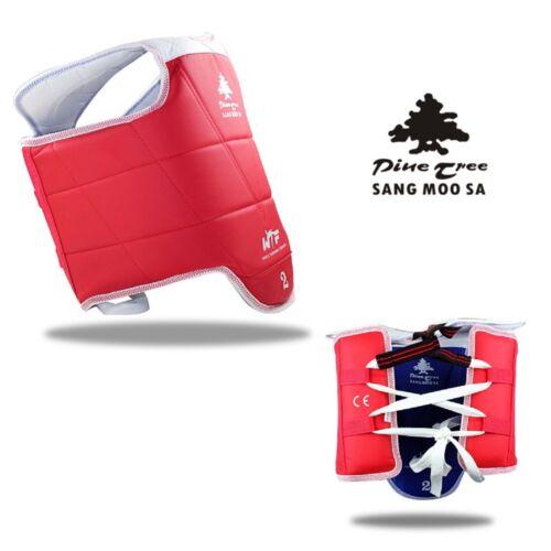 Kampfsportweste von PINETREE Taekwondo Wendeweste rot blau WT Chestguard TKD