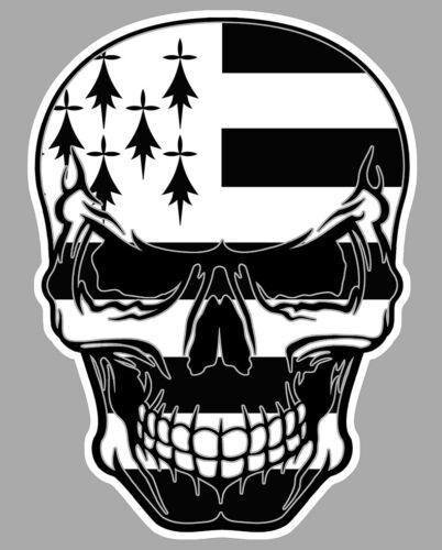 TETE DE MORT BREIZH STICKER BRETAGNE BIKER BRETON FLAG SKULL AUTOCOLLANT SA166