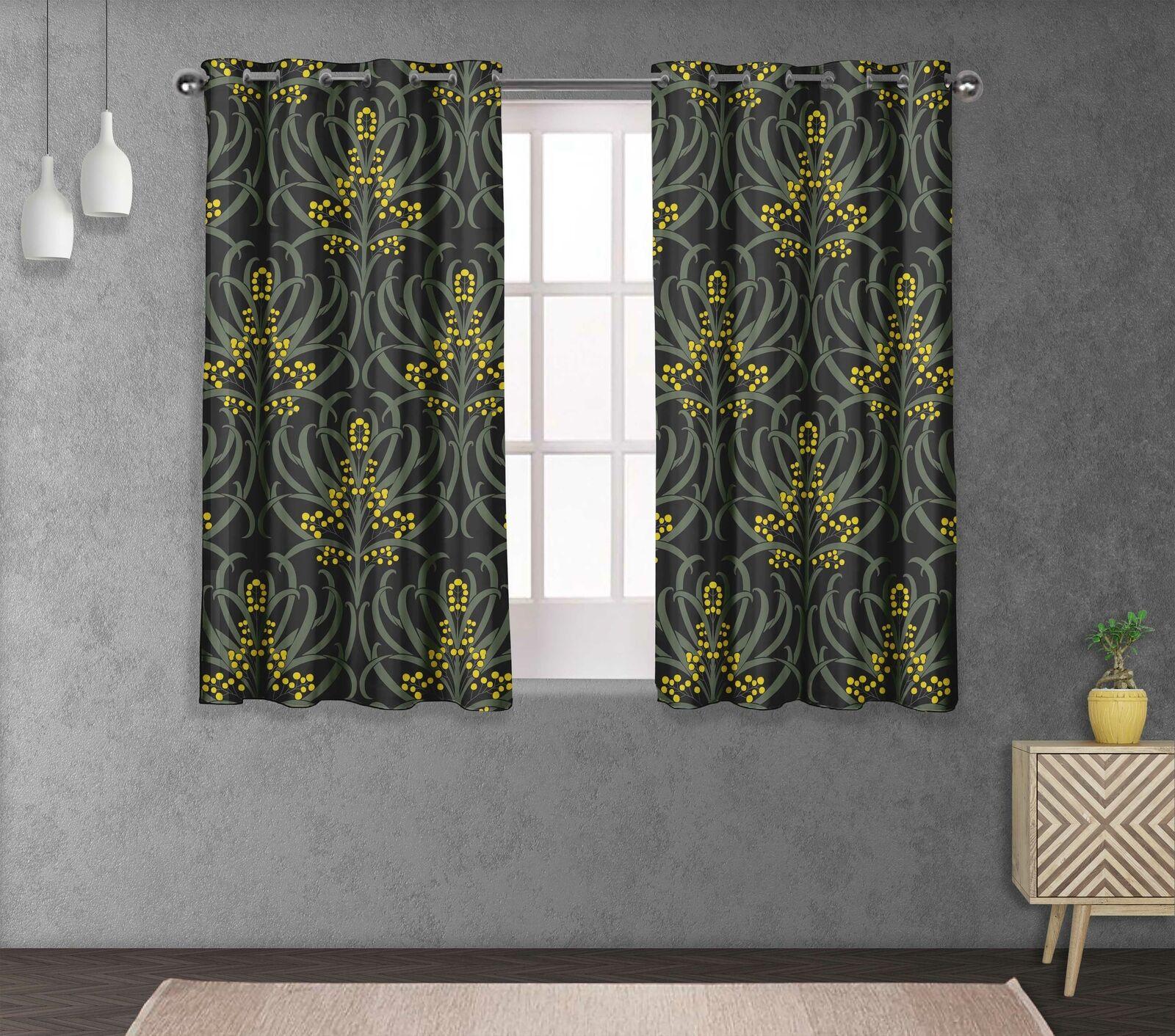 S4sassy rosso Berries & Artistic Living Room Window short & long Curtain-FL-26M