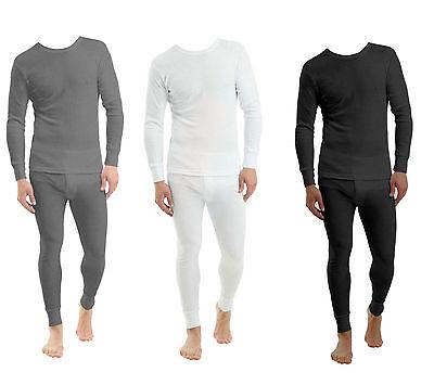 2 X Full Set Mens Thermal Underwear Long Sleeve Vest Top & Long Johns New