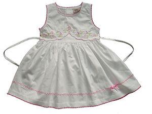 Earnest Nuovo Da Bambino Cotone Floreale Vestito Festa Rosa Clothing, Shoes & Accessories Bianco 0-3 To 9-12 Mesi Refreshment Baby & Toddler Clothing