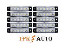 10 Stück x 6 LED Begrenzungsleuchte Umrissleuchte 24V Positionsleuchte Weiß LKW