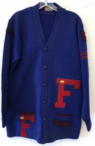 Vintage 1962 Wool Varsity Football Sweater