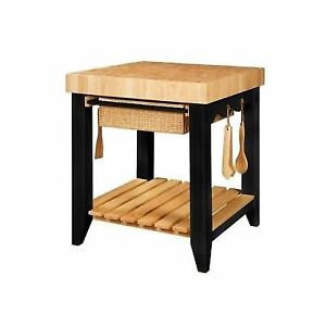 Butcher Block Kitchen Work Table Powell furniture color story black butcher block kitchen island work powell furniture color story black butcher block kitchen island work table workwithnaturefo